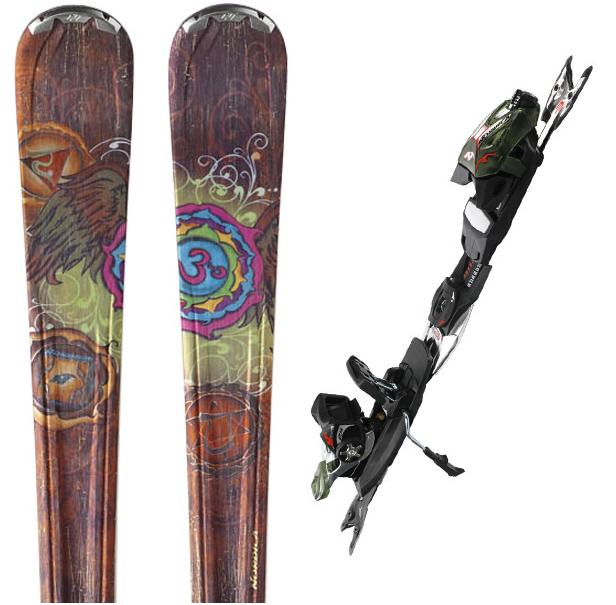 Paire de ski Nordica Cinnamon + fixations avec housse de transport offerte (valeur 34€)