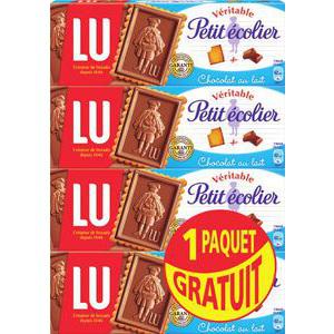 Lot de 4 paquets de petit écolier de Lu (BDR de 1.50€)