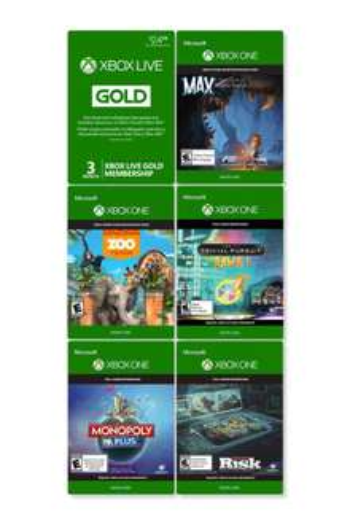 Xbox One Family Fun Pack: 5 jeux Xbox One + 3 mois de Xbox Live
