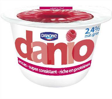 8 pots de yaourt Danone Danio 150g