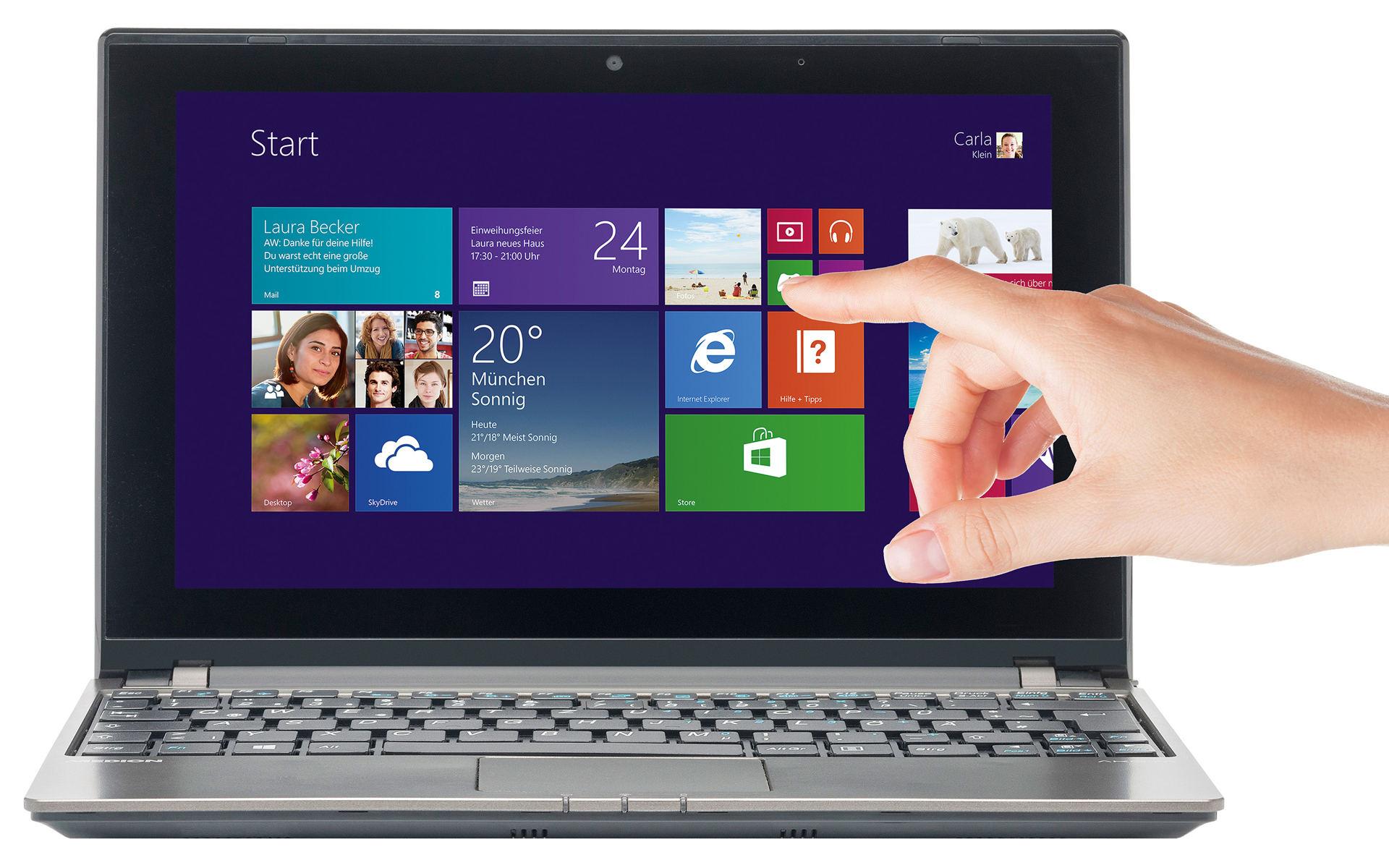 "PC portable tactile 10"" Medion Akoya Touch 10 E1317T (AMD A4-1200, SSHD 500go, 8go RAM)"