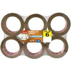 Lot 6 rouleaux de scotch Plasto (50 m)