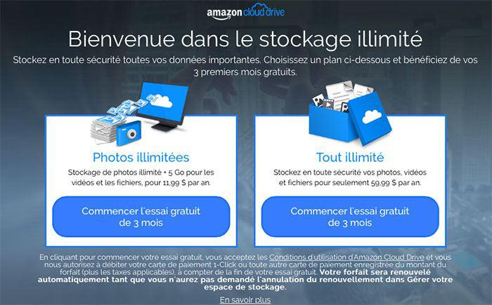 Amazon Cloud Drive : Stockage illimité de vos photos + 5 Go pour les fichiers et les vidéos