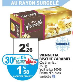 Glace Viennetta Miko 650ml (avec 30% sur la carte)
