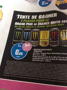 Lot de 3 boissons énergisante Monster (via bon de réduction)