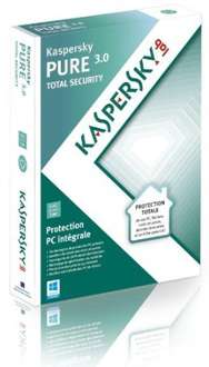 Antivirus Kaspersky Pure 3.0 Total Security 5 PC / 1 an Version Boite