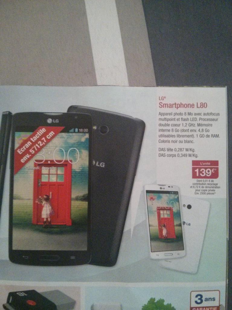 "Smartphone 5.5"" LG L80"