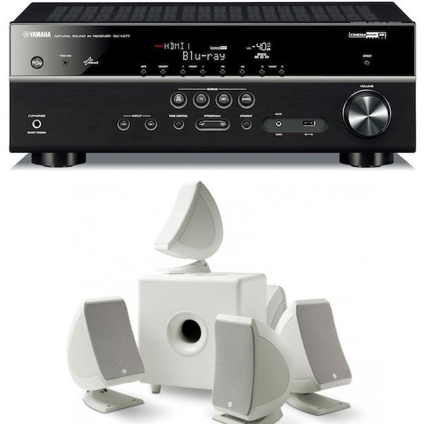 Ampli 5.1 Yamaha RXV477 Noir + Pack d'enceintes Focal Sib & Cub3 Blanc