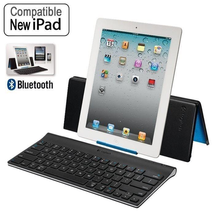 Pack Clavier Bluetooth Logitech ultra plat compatible iPad + Joystick Logitech