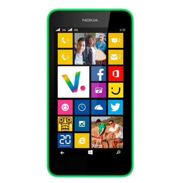 Smartphone Nokia Lumia 630 8Go Dual SIM - Vert