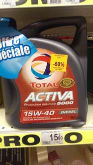 Huile Total  Activa diesel 15W:40 (5  litres)