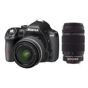 Appareil photo Reflex numérique Pentax K-50 + Objectif DAL 18-55 + Objectif HDDA 55-300