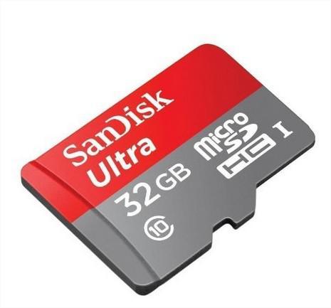 Carte mémoire microSDHC SanDisk Ultra 32 Go Classe 10 + adaptateur de cartes SD