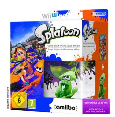 Précommande: Jeu  Nintendo Wii U Splatoon + Amiibo Squid Vert