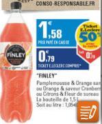 Bouteille de 1.5L de Finley (4 saveurs au choix)