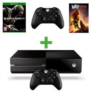 Pack Console Xbox One + 2ème Manette + Mortal Kombat X + Max : The Curse of Brotherhood (Dématérialisés)