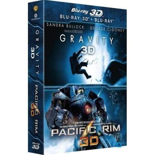 Coffret Blu Ray 3D Gravity/Pacific Rim