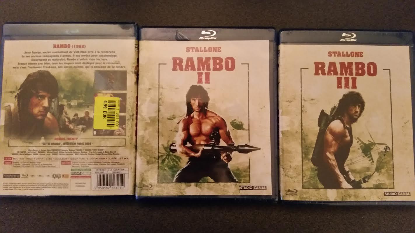 Rambo I, II ou III BLURAY