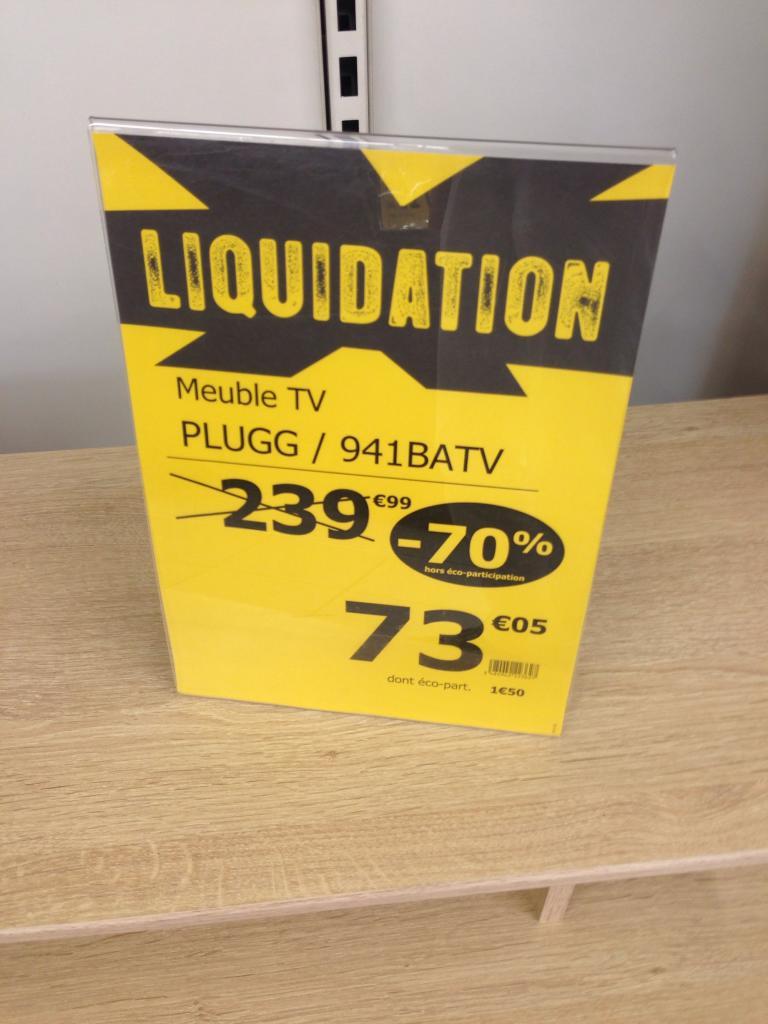Liquidation partielle: Jusqu'à -70% sur une sélection d'articles- Ex: Meuble TV Plugg