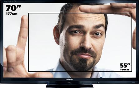 """TV LED 70"""" Sharp LC-70LE747EN - 3D, Wifi"""