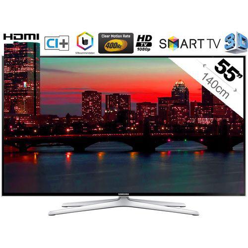 """TV LED 55"""" Samsung UE55H6400 - 3D, Smart TV, Full HD (2 paires de lunettes incluses)"""