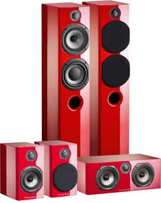 Pack enceinte home-cinéma grand spectacle Triangle Color - Rouge