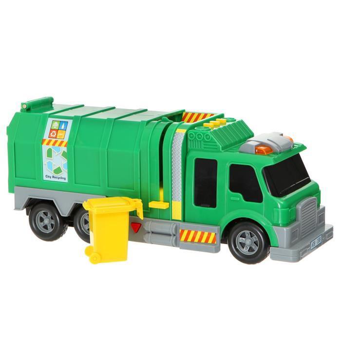 Jouet Camion poubelle 36cm avec effets sonores et lumineux