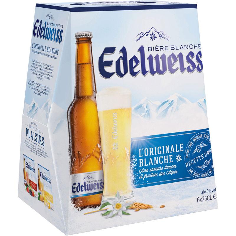 1 pack de bière blanche Edelweiss acheté = 1 pack offert, soit les deux