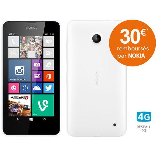 Smartphone Nokia Lumia 635 - Plusieurs coloris (avec ODR 30€)