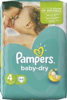 3 paquets de couches Pampers Baby Dry