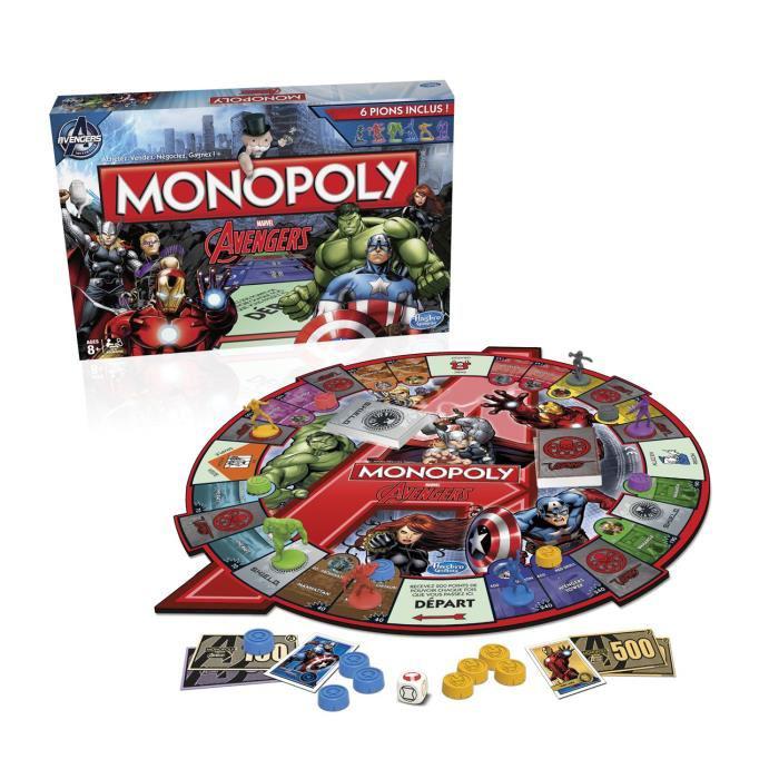 Une place de cinéma pour Avengers 2 offerte dès 20€ d'achat de produits Disney - Ex: Monopoly Avengers (avec ODR 50%)