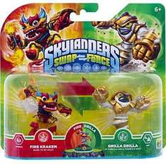 Figurines Skylanders Swap Force Grilla Dilla + Fire Kraken / Swap Force Boom Jet + Night Shift