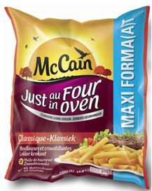Lot de 2 paquets de frites MC Cain 1 Kg (via bon de réduction)