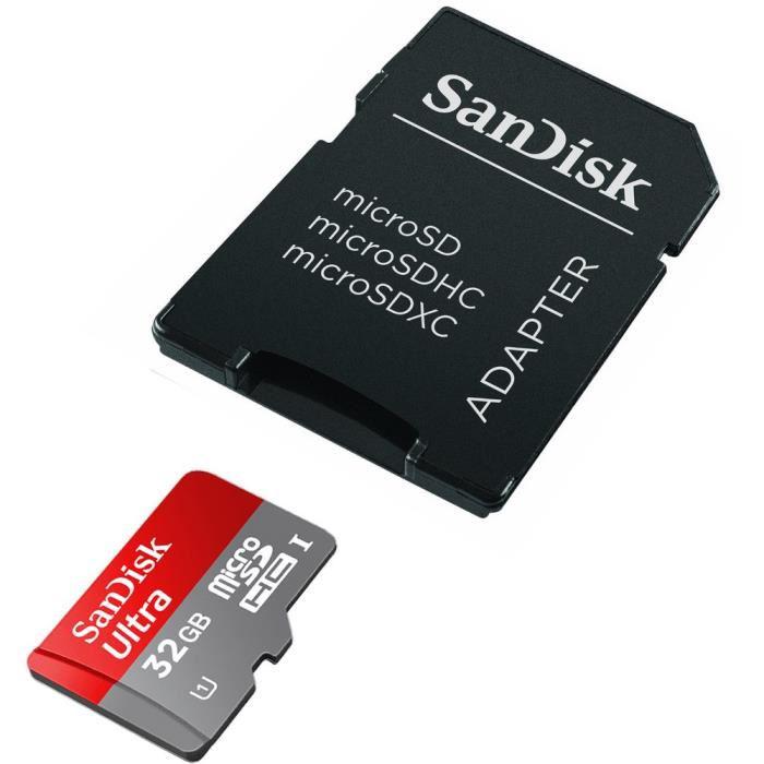 Carte mémoire MicroSDHC SanDisk Ultra 32 Go Classe 10