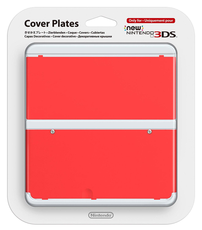 """Coque de protection Officiel """"Nintendo New 3DS"""" Rouge/Rose/Bleue"""