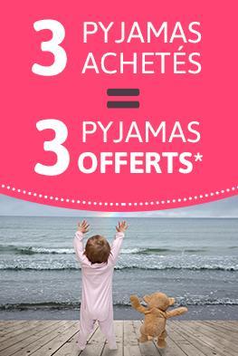 3 pyjamas bébés achetés = 3 offerts