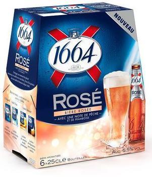 3 Packs de 6 bières 1664 Rosée ou Banche