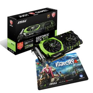 Carte graphique MSI Geforce GTX 970 Gaming 100ME + Tapis de souris gaming Farcry 4
