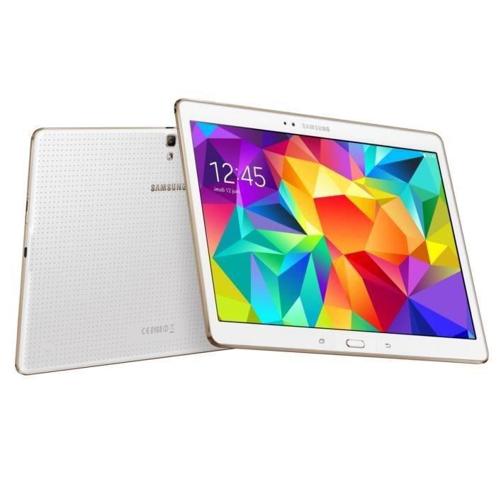 Tablette 10.5'' Samsung Galaxy Tab S 16Go Wi-Fi + Carte microSDHC Samsung  Evo 16Go  - Classe 10 (avec ODR 50€)