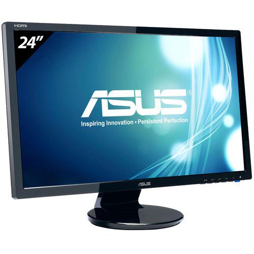 """Ecran PC LED 24"""" Asus VE247H (Full HD - 2 ms - HDMI / DVI / VGA - Dalle TN)"""