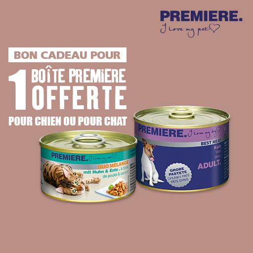 """Une boîte de pâté """"Première"""" pour chien ou chat gratuite (Via BDR)"""