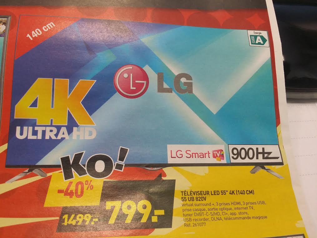 "TV 55"" LG 55UB820 UHD Smart TV"