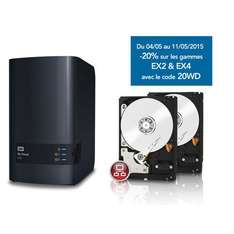 Nas Western Digital My Cloud EX2 + 2 HDD WD Red 2To