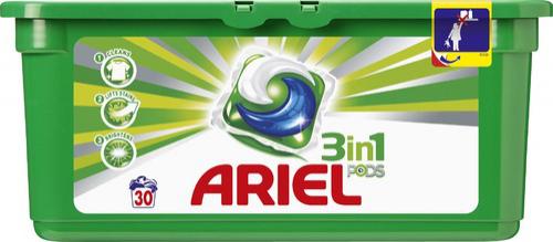lessive Liquide Pods Ariel  (30 lavages) (2€ en BDR)