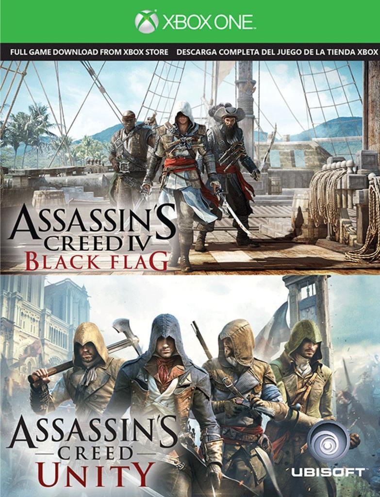 Pack Assassins Creed: Unity + Assassins Creed: Black Flag sur Xbox One (dématérialisé)