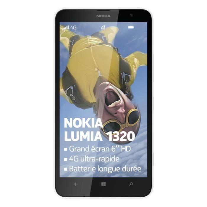 """Smartphone 6"""" Nokia Lumia 1320 4G Noir (ODR 100€)"""