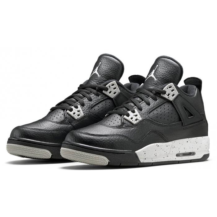 Baskets Air Jordan 4 Retro Black pour enfants (19.5 au 27)