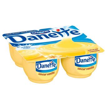 Crème dessert Danone - Danette parfums au choix (BDR de 0.75€)