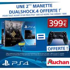 Console PS4 + The Order 1886 + 2ème manette Dualshock 4