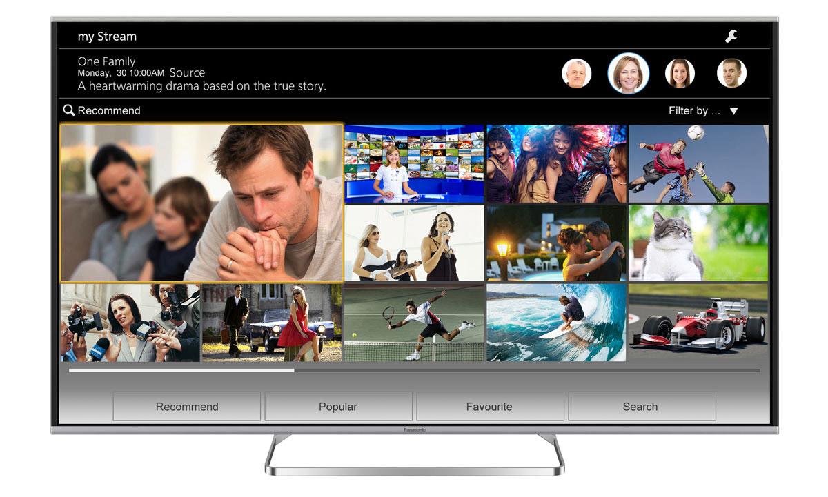 """TV LED 48"""" Panasonic TX-48AS640E - 3D, Dalle VA"""